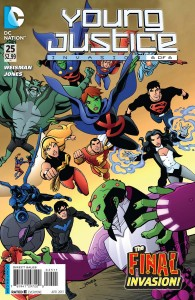 "One of the issues for the second season comic series for ""Young Justice""."