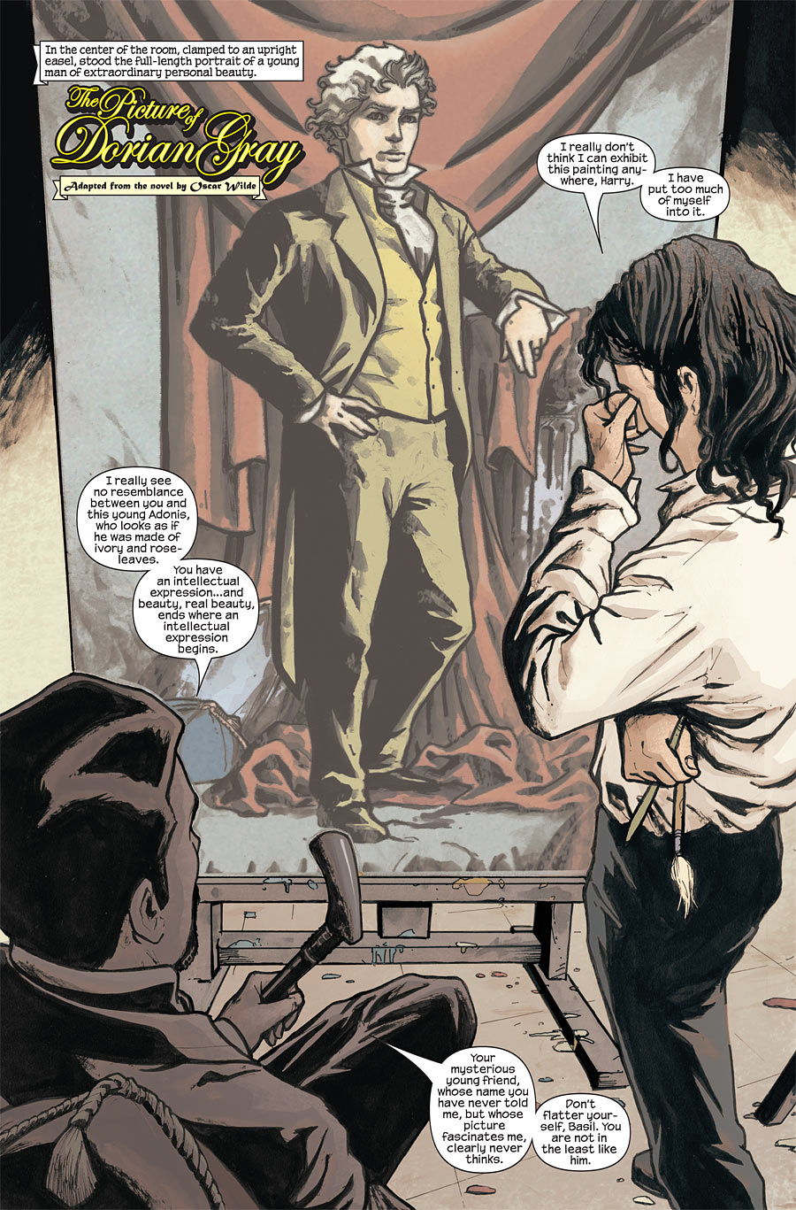 "marvel illustrated the picture of dorian gray"" questions about  image from marvel illustrated the picture of dorian gray found on google image search"