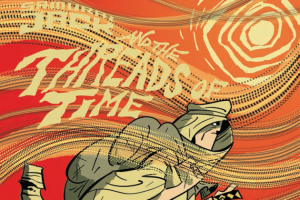The opening for the new Samurai Jack comic, with the title card for the threads of time storyline.
